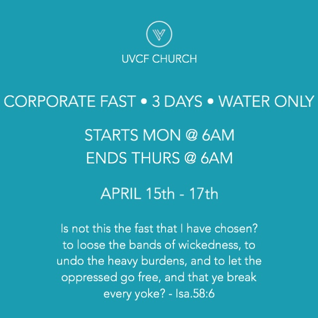 Corporate Fast • 3 Days • Water Only • April 15-17